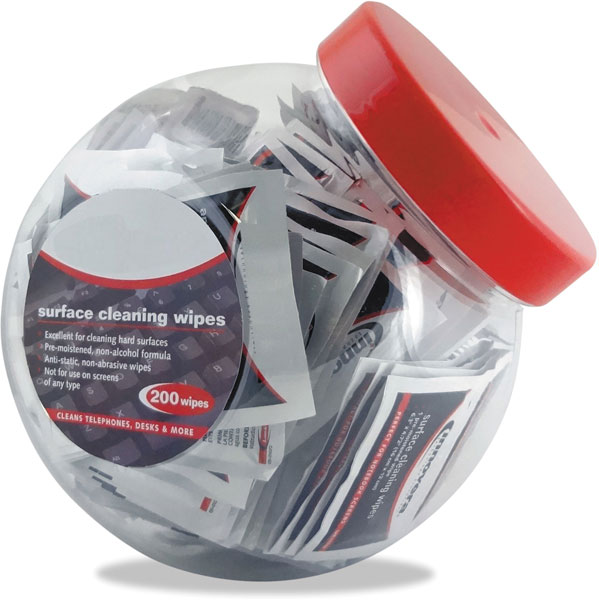 200 Cleaning Wipes Individual Foil Packs in a Fishbowl