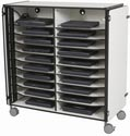 20 Slot Mobile Laptop Cart 27541 Charging Station by Balt
