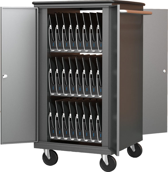 Balt 27705-4 High-Capacity Sync & Charge Tablet Cart 32-Slot