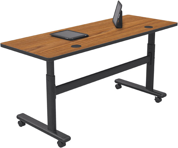 "Height Adjustable Flipper Table 60""W x 24""D (Premium HPL Top)"