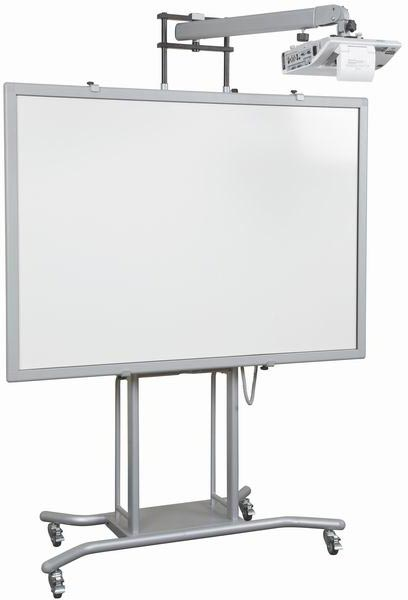 "iTeach 2 Mobile Interactive Whiteboard Stand with Short Throw Arm 21"" to 32"""