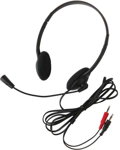 Califone 3065AV Classroom Headset - Dual 3.5mm Plug for Computers with Dual Jacks