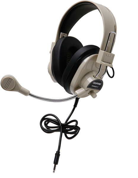Califone 3066AVT Classroom Headset - Single Plug for Tablets & Laptops with Single Jacks