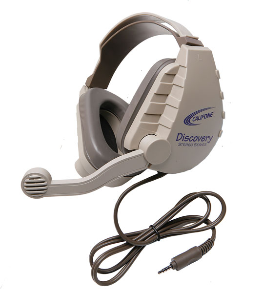 Califone DS-8VT Discovery Classroom Headset - Single Plug for Tablets & Laptops with Single Jacks