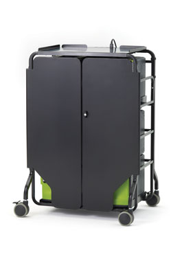 Copernicus FTT432USB 32-Slot Tech Tub2 Cart with Doors (includes 6 USB Tech Tubs)