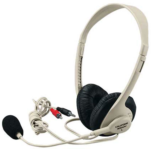 Califone 3064AV Classroom Headset - Dual 3.5mm Plug for Computers with Dual Jacks