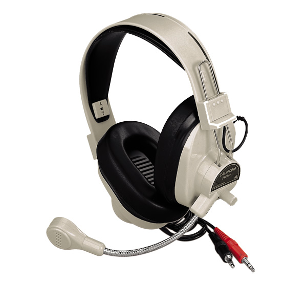 Califone 3066AV Classroom Headset - Dual 3.5mm Plug for Computers with Dual Jacks