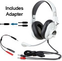 Learner LNR66-M School Headset - Dual Plug with Single Plug Adapter
