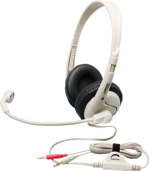 Labsonic LS355 School Headset - Dual 3.5mm Plug for Computers with Dual Jacks
