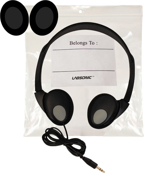 Labsonic LS400 Foldable Student Headphones with Hygiene Bag