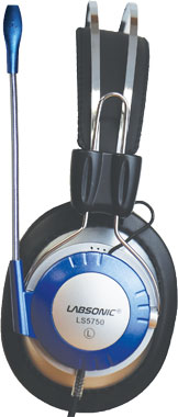 Labsonic LS5750-M School Headset - Dual Plug with Single Plug Adapter