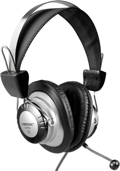 Labsonic LS5750 School Headset - Dual 3.5mm Plug for Computers with Dual Jacks