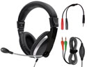Labsonic LS9000MC-M School Headset - Dual Plug with Single Plug Adapter