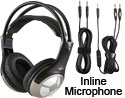 Labsonic LS9500-IM School Headset with In-line Microphone - Dual Plug & Single Plug
