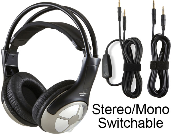 Labsonic LS9500  Premium Stereo / Mono Headphones with Removable Cords