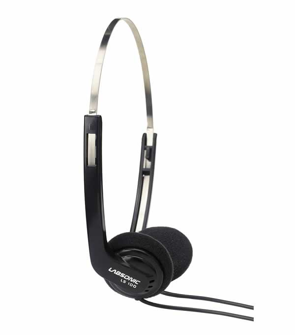 Labsonic LS100 Lightweight Student Headphones with Hygiene Bag