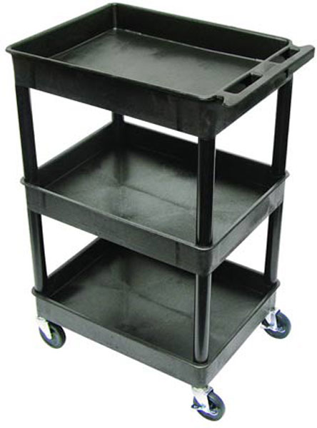 Tub Cart with 3 Shelves