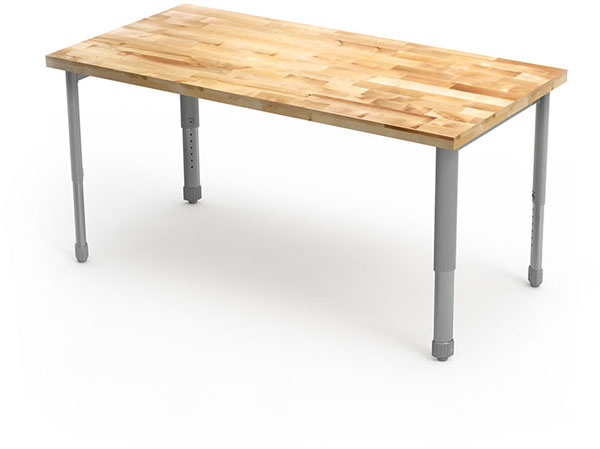 "Interchange Activity Table with Butcher Block Top - 60""W x 30""D by Smith System"