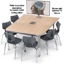 Interchange Half Boat Collaborative Meeting Tables